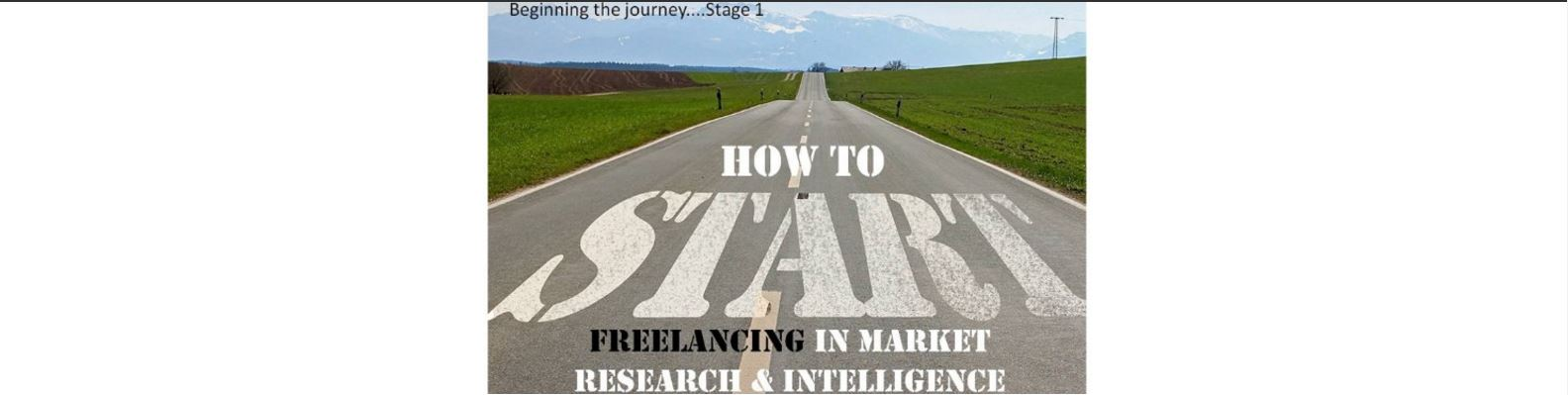 how to start freelancing as a market researcher
